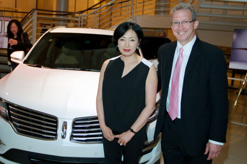 The 2015 Lincoln MKC, the brand's first small premium utility, is engaging the senses through a tour of cities this spring. On Tuesday, May 13, Soo Kang (left), interior design chief, The Lincoln Motor Company, and James Smelser (right), lead musician and French horn player for the Chicago Symphony Orchestra, discussed the role sound plays in their respective disciplines. Vanessa Moss, vice president of orchestra and building operations, moderated the discussion at the Chicago Orchestra's Symphony Center. The evening included a special performance by the Civic Orchestra String Ensemble. Photo credit: Getty Images for The Lincoln Motor Company.