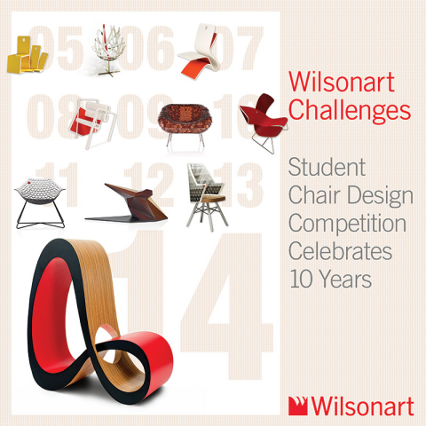 """Wilsonart celebrates 10 years of the """"Wilsonart Challenges"""" Student Chair Design Competition. (Graphic: Business Wire)"""