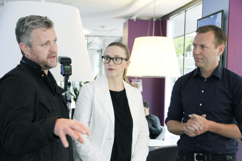 In the photo, from left to right: Konrad Bergström, President and Co-Founder, Zound Industries, Pern ...