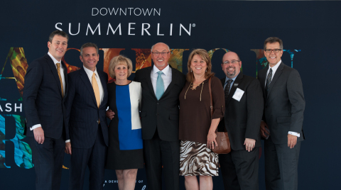 Left to Right - The Howard Hughes Corporation (HHC) President, Grant Herlitz; HHC CEO, David Weinreb; Clark County Commissioner, Susan Brager; President of Summerlin for HHC, Kevin Orrock; HHC SVP of Management & Operations, Sarah Vasquez; HHC Sr. General Manager for Downtown Summerlin, Andrew Ciarrocchi; HHC SVP of Community & Government Relations for Summerlin, Tom Warden (Photo: Business Wire)