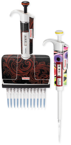 New Thermo Scientific MyPipette Skins Deliver A Fun, New Way to Personalize Pipettes in the Lab (Photo: Business Wire)