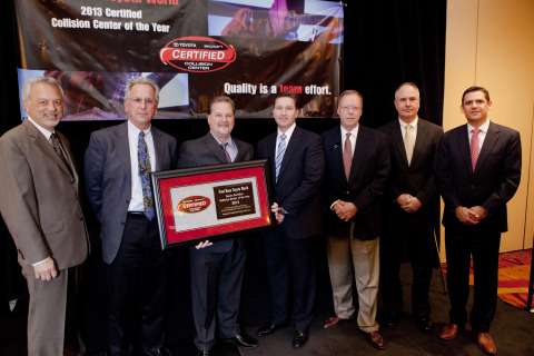 Pictured left to right: Dave Pyle-Toyota Motor Sales, Brad Brahe-Toyota Motor Sales, Jeff Debner-Fred Haas Toyota, Nate Murphy-Fred Haas Toyota, Travis Rice-Gulf States Toyota, Jay McNulty-Gulf States Toyota, Ben Sullivan-Gulf States Toyota (Photo: Business Wire)
