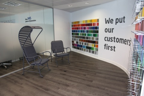 Axalta's new offices and powder showroom in Spain (Photo: Business Wire)