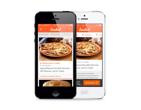 www.LiveDeal.com - real-time mobile restaurant marketing platform for restaurants. (Photo: Business Wire)