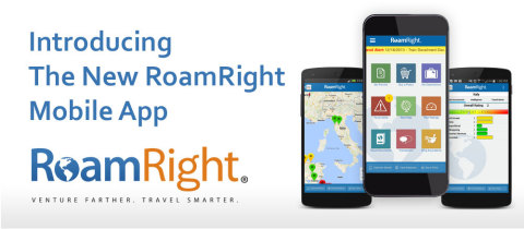 The RoamRight mobile app is an essential tool for all travelers, with security alerts, translation tools, travel insurance and more. (Graphic: Business Wire)