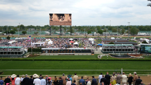 "The ""Big Board"" 4K Ultra High-definition LED Video Board at Churchill Downs, Engineered by Panasonic ..."