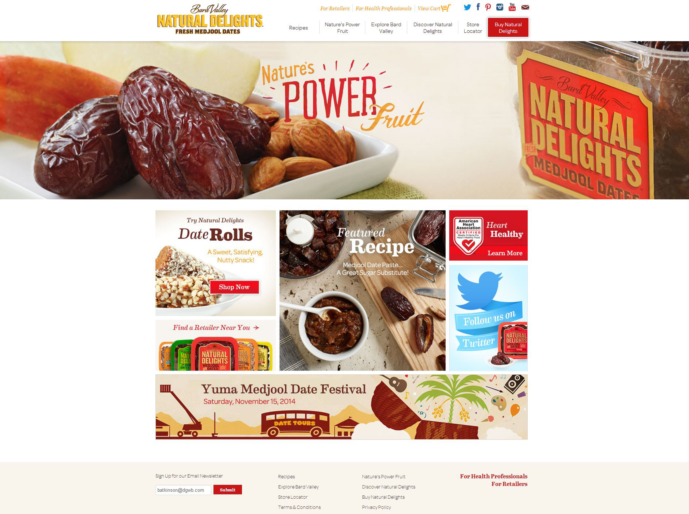 The new Natural Delights website is easy to navigate and engaging for consumers. (AP Photo/Natural Delights Medjool Dates)