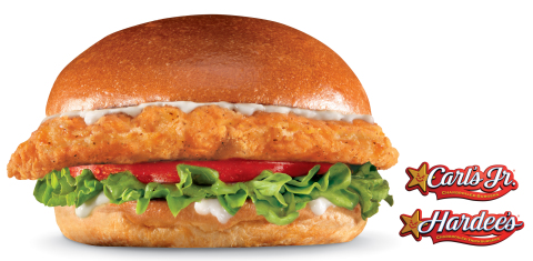 The Big Chicken Fillet Sandwich, featuring a premium five-ounce chicken breast fillet seasoned in Southern spices, breaded and served on a Fresh Baked Bun with lettuce, tomato and mayonnaise, is now available at Carl's Jr. and Hardee's. (Photo: Business Wire)