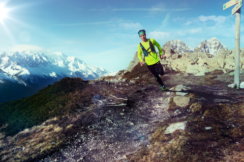 ASICS Descends Upon Mont Blanc for Race The Sun, The Ultimate Trail Challenge (Photo: Business Wire)