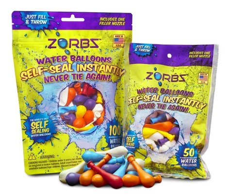 ZORBZ, the world's first self-sealing balloons with Snap and Seal technology. www.zorbzwaterballoons.com (Photo: Business Wire)