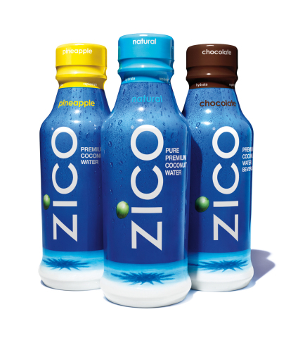 ZICO Premium Coconut Water supports hydration with 5 naturally occurring electrolytes-including the potassium of a banana. Beyond the original bestselling natural flavor which is never sweetened and has zero fat and zero cholesterol, ZICO also comes in Chocolate, Pineapple, Mango and Passion Fruit. (Photo: Business Wire)