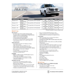 The 2015 Lincoln Navigator full-size sport utility vehicle, with a refreshed exterior design, refined interior appointments and more power and better handling than ever, will go on sale later this year with a starting suggested manufacturer's retail price of $62,475, including destination and delivery charges.