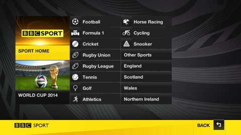BBC Sport on the Roku(R) streaming platform (Graphic: Business Wire)