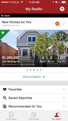 The Redfin Real Estate App for iPhone makes it easy for house hunters to search, share and tour home ...