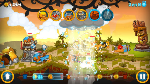 Command an army of Vikings in their quest to create the ultimate BBQ sauce and lead the Aztecs in defense of the Holy Pepper in Swords & Soldiers for Wii U. (Photo: Business Wire)