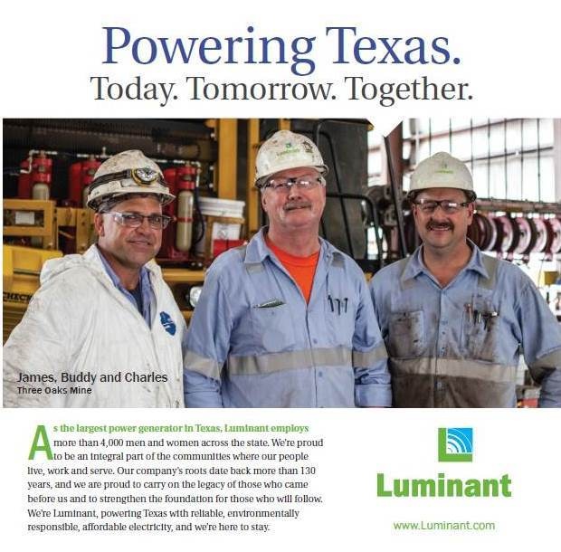 Three Oaks Mine's James Schwarz, Buddy Brogger and Charles Ehler will be featured in a newspaper ad in Rockdale, Texas. (Graphic: Business Wire)