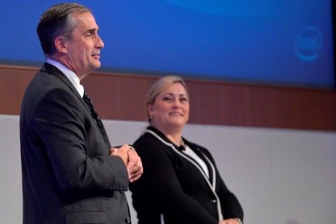 Intel CEO Brian Krzanich and President Renee James address the company's Annual Stockholders' Meetin ...