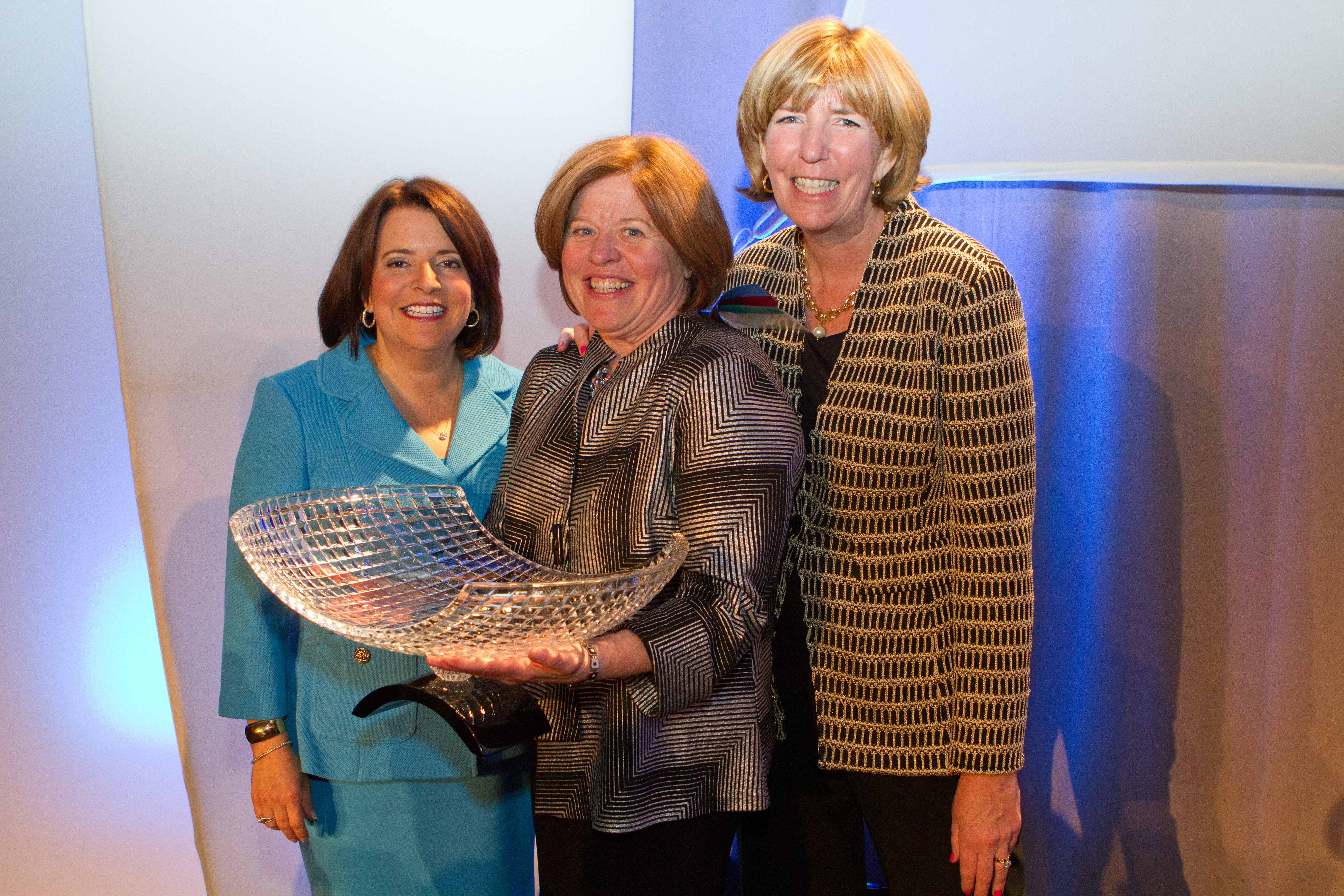 Melissa Langa (center), of the Boston law firm of Bove & Langa, was named 2014 Estate Planner of the Year by the Boston Estate Planning Council (BEPC) and presented with the award by Judith Saxe, BEPC president (right) and Deirdre Prescott, incoming president during the Annual Gala held May 22. (Photo: Business Wire)