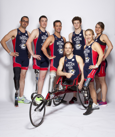 CAF's Elite Paratriathlon Team (Photo: Business Wire)