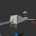 A point cloud of the USS Arizona Memorial displayed in Autodesk ReCap software (Photo: Business Wire)