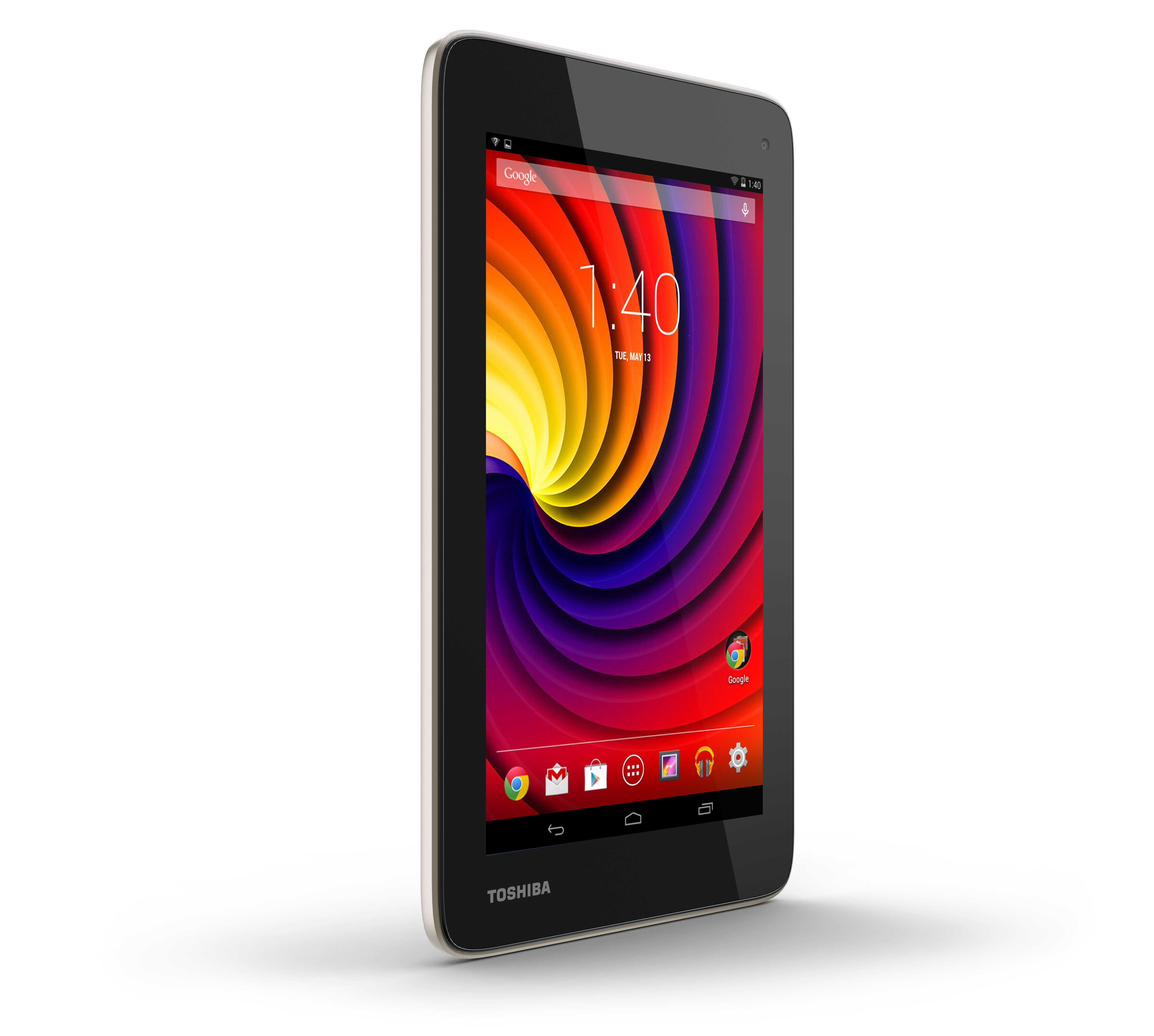 Toshiba's Excite Go is a seven-inch Android 4.4-based tablet that offers a comprehensive and reliable tablet experience at a fraction of the cost, starting at just $109.99 MSRP. (Photo: Business Wire)