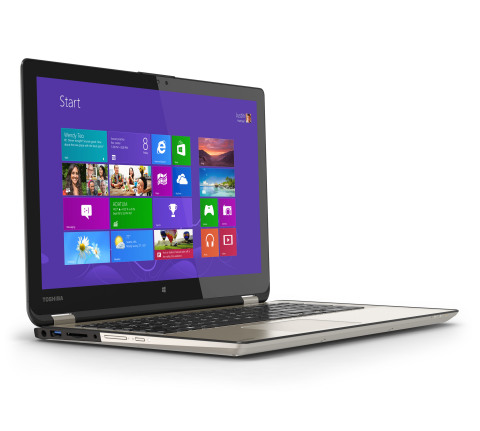 "Toshiba's Satellite Radius is a multimode laptop with a 360-degree ""flip-and-fold"" design that enabl ..."