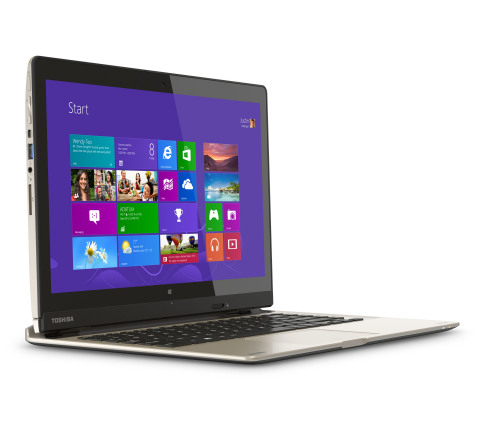 Toshiba's Satellite Click 2 and Satellite Click 2 Pro are next generation 2-in-1 detachable PCs that feature a 13.3-inch removable display and run on Windows 8.1. (Photo: Business Wire)