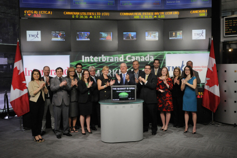 (May 27, 2014 – Toronto, ON)Interbrand Canada opens the Toronto Stock Exchange to celebrate the 2014 ...