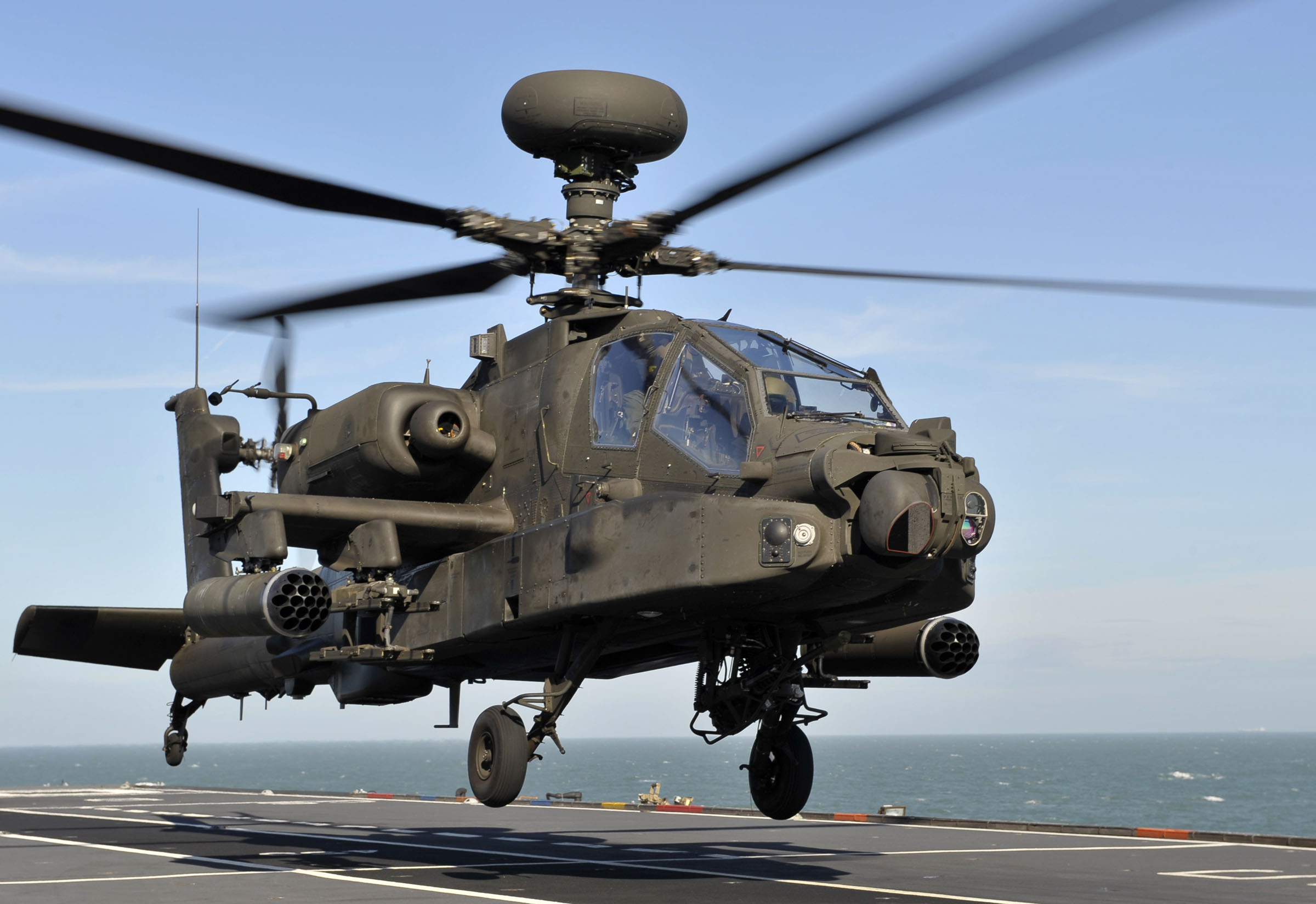 Gen3 Common Missile Warning System to be installed on Apache (pictured), Chinook, Wildcat, and Merlin aircraft. (Cleared by U.K. MoD for open release.)