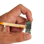 The incredibly small circuitry for Samsung's wearable open platform for digital health, Simband. (Photo: Business Wire)