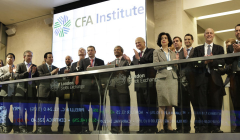 CFA Institute opens the market at the London Stock Exchange (Photo: Business Wire)