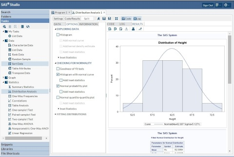 SAS(R) Studio generates SAS code through guided interaction. Users just selects tasks for the code they want to create. (Graphic: Business Wire)