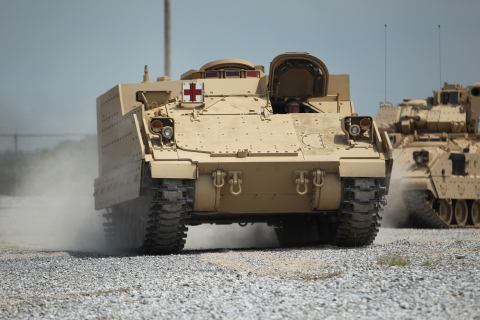 BAE Systems' Armored Multi-Purpose Vehicle capitalizes on the proven Bradley and Paladin Integrated Management designs, meeting the Army's force protection and all-terrain mobility requirements. (Photo: BAE Systems)
