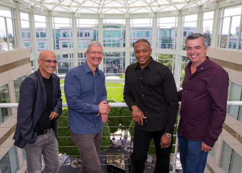 Apple today announced it has agreed to acquire the critically acclaimed subscription streaming music service Beats Music, and Beats Electronics, which makes the popular Beats headphones, speakers and audio software. (Photo: Business Wire)