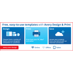 Free, easy-to-use templates with Avery Design & Print (Graphic: Business Wire)