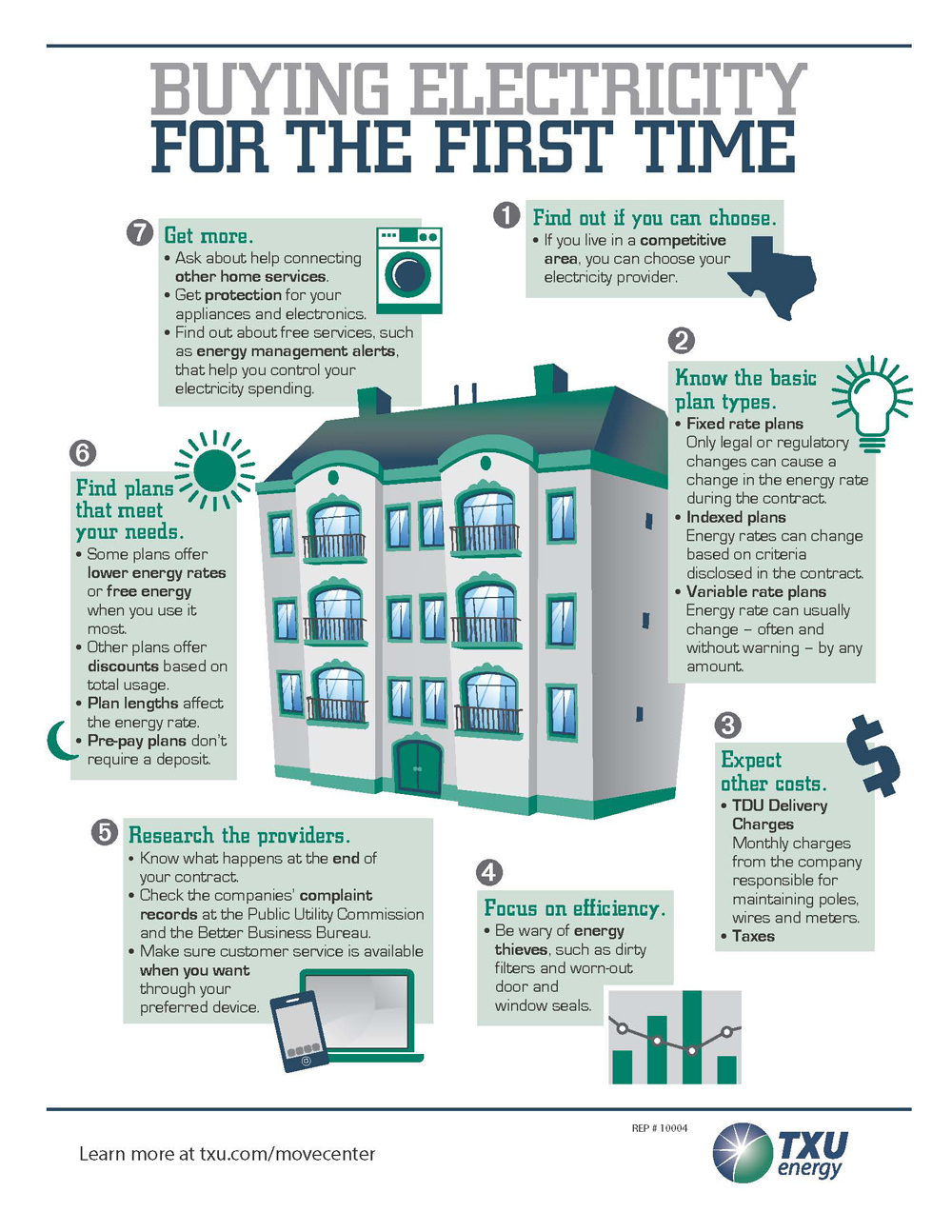 TXU Energy helps renters understand the state's competitive retail electricity market so they can make the best choices. (Graphic: Business Wire)