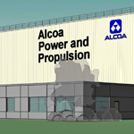 Leading aerospace manufacturer Alcoa today celebrated the start of construction of its state-of-the-art, $100 million aerospace expansion (rendering shown here) in La Porte, Indiana. (Graphic: Business Wire)