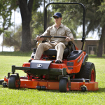 Kubota's ZD326H zero-turn mower is powered by a 26-horsepower Kubota diesel engine and features a large, 72-inch commercial mower deck. (Photo: Business Wire)