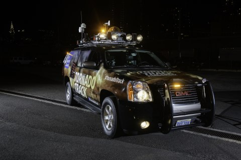 Iluminar LED Lights on The Weather Channel Truck. (Photo: Business Wire)