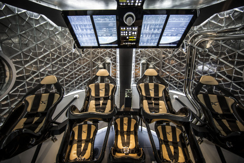 Interior of SpaceX's Dragon V2 spacecraft. (Photo: Business Wire)