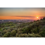 View from Orchard Hills: new village set against the majestic backdrop of Loma Ridge, thousands of acres of open space and working avocado groves (Photo: Business Wire)