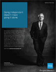 Founder and Chairman Charles R. Schwab Featured in Ad Touting RIAs and Schwab's Shared Values of Independence and Client-Centric Approach (Courtesy of Schwab)