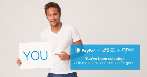 PayPal, Neymar Jr. and Waves For Water launch global campaign to bring clean water to Brazilian communities in need. (Photo: Business Wire)