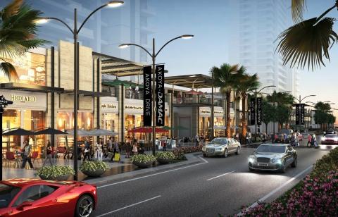 AKOYA Drive mesure 1,3 km de long et comprend un cinéma en plein air, une patinoire et des zones de  ...