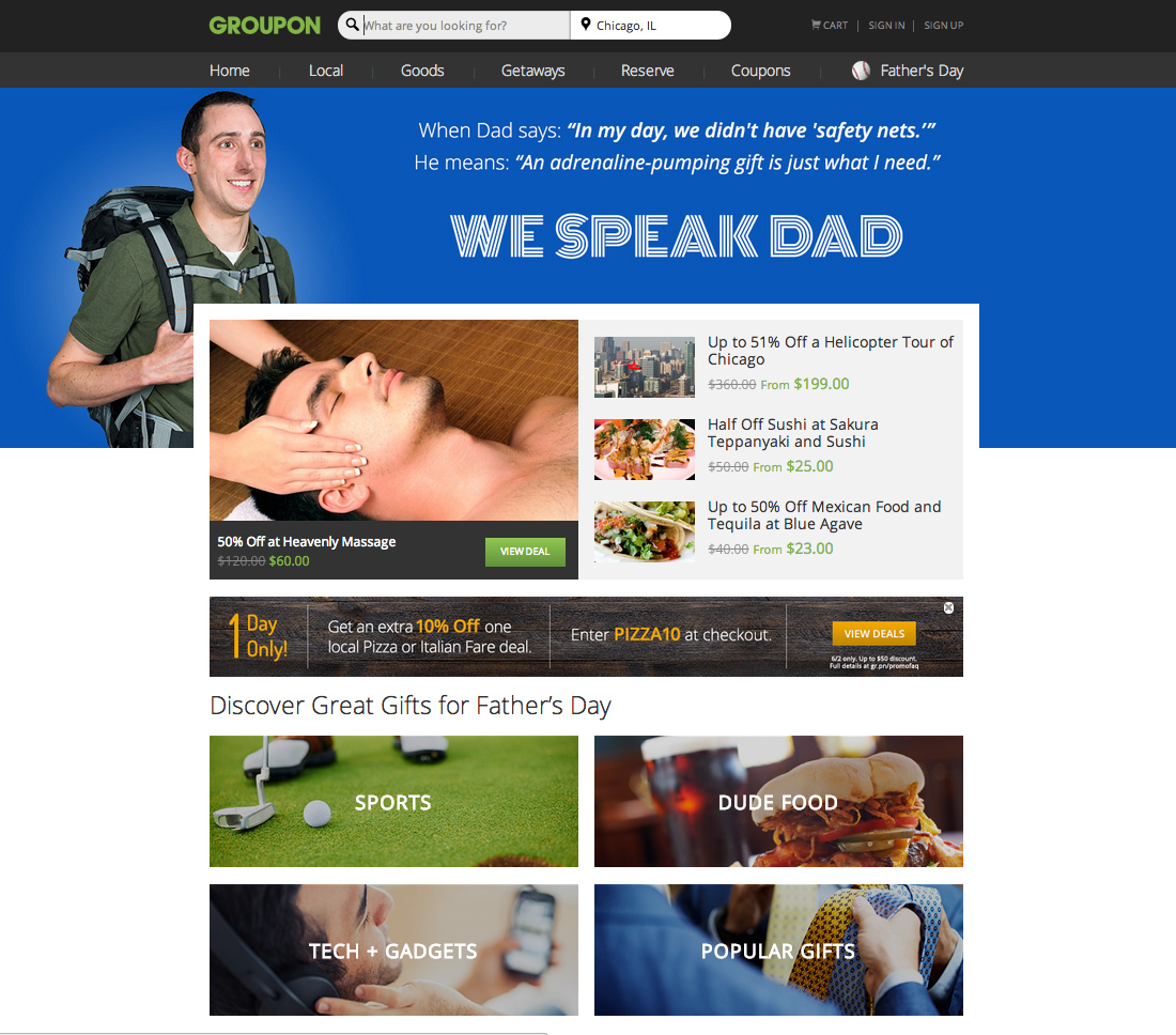 Groupon launches Father's Day Gift Shop and contest to win a trip to Ireland. (Graphic: Business Wire)
