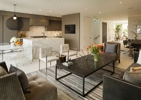 Living area and kitchen inside Residence 2680 by Troon Pacific, Inc. (Photo: Business Wire)