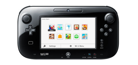 After the update has been downloaded, users starting Wii U with the GamePad controller can view the Quick Start Menu. (Photo: Business Wire)