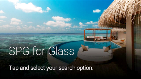 The SPG app for Google Glass is now available to Google Glass Explorers (Photo: Business Wire)