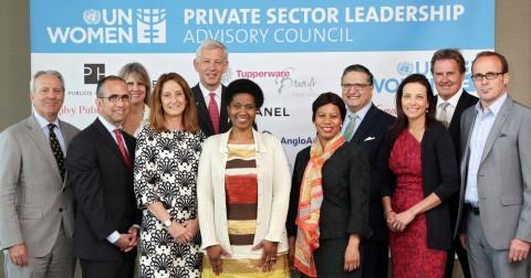 The launch of UN Women's Private Sector Leadership Advisory Council, held at United Nations Headquarters in New York on 2 June 2014. (Photo: UN Women/Ryan Brown)
