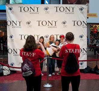 Broadway fans enjoy red carpet experience at past Tony Award Simulcast produced by Clear Channel Spe ...